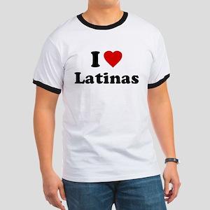 I Love [Heart] Latinas Ringer T